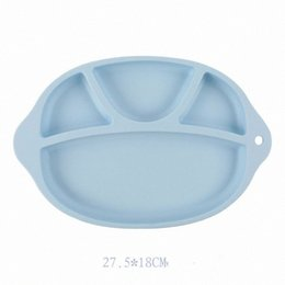 silicone plates bowls NZ - Baby Safe Silicone Dining Plate BPA Free Solid Children Dishes Suction Toddle Training Tableware Cute Cartoon Kids Feeding Bowls RRA28 9XRJ#