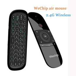 pc air mouse NZ - Wechip W1 Mini Air Mouse Rechargeable Englishrussian 2.4ghz Wireless Keyboard Remote Control For Windows Android Tv Box Pc Gamer T190628