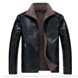 parka pocket NZ - 2020 Hot New outwear men's winter lapel plus velvet thick leather jacket coat Overcoats parka Jacket coats outwear