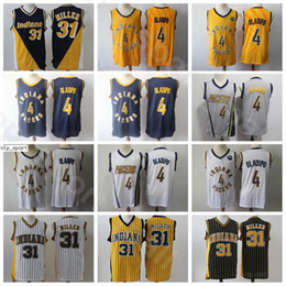white navy uniforms UK - Edition Earned City Victor Oladipo Jerseys Men Basketball Reggie Miller Uniform Stitched Home Away Navy Blue Black White Yellow Grey