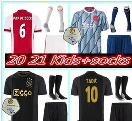 top quality youth soccer jerseys Canada - top quality 2020 2021 Ajax Soccer Jerseys kids kits 20 21 Camisa NERES TADIC HUNTELAAR DE LIGT VEN DE BEEK youth Football Shirts