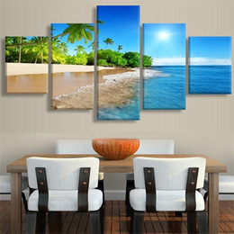 stitch paintings NZ - Beach seascape picture combination 5D DIY Diamond Painting Embroidery Full Square round Cross Stitch Rhinestone Mosaic AS842 0922