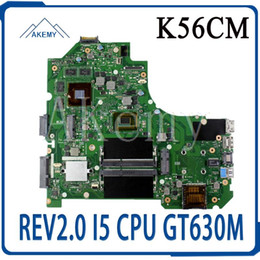 mainboard for laptop Australia - K56CM Motherboard REV2.0 CPU GT630M RAM For Asus S56C S56CM S550C S550CM K56CB laptop Motherboard K56CM Mainboard test 100%OK