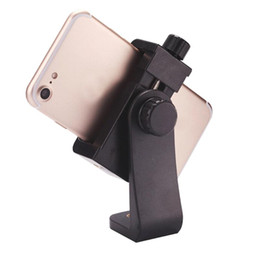 cell phone tripod adapter UK - Vertical 360 Rotation Tripod Stand Universal Tripod Mount Adapter Cell Phone Clipper Holder for plus Samsung