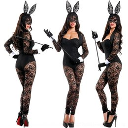 Wholesale halloween sexy outfit for sale – halloween ko6VV Halloween Carnival bunny outfit sexy performance nightclub Club lace charm party lace costume bunny