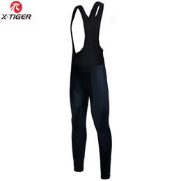Toptan satış 3D Jel Pad Bisiklet Hızlı Kuru Bisiklet Pants ile X-Tiger Kış Bisiklet Termal Önlüğü pantolon Sıcak Tüm Siyah MTB Bisiklet pantolonlar tutun