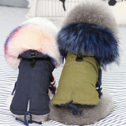 Wholesale fur costumes for sale - Group buy Winter Clothes Luxury Fur Collar Coat Small Warm Fleece Lined Jacket for Dog Pet chihuahua clothing S1 T200902
