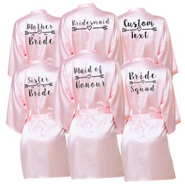 custom bridal robes NZ - Bachelor Party Personalized Favors gift Bride Team Robe Female Custom Name bridesmaid Bride Tribe bridal shower Cover-ups Robes CX200818