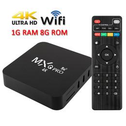 venda por atacado New MXQ Pro 4K Ultra HD de 64 bits Wifi Android 7.1 Quad Core Smart TV Box Media Player Rede de Set-top Box 4k HD jogador TV Box