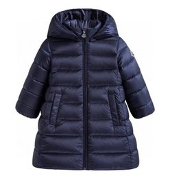 Wholesale hooded denim parka resale online – 2020 new high end Winter Boys girls Jackets Child Kids Thick Warm Parkas Hooded Coats Baby Girls Long Outwear Windbreaker Jackets Clothing