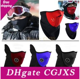 mask for bicycle Australia - New Neoprene Neck Warm Half Face Mask Winter Ski Mask Veil For Cycling Motorcycle Ski Snowboard Bicycle Face Mask 3 Colors Hh9 -2625