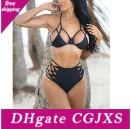 Wholesale brazillian bikinis for sale – plus size Plus xl Size Sexy Bikinis Women Swimsuit Swimwear Halter Top Brazillian Bikini Set Bathing Suit Summer Beach Wear Biquini