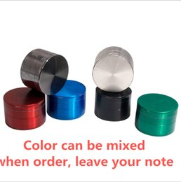 tobacco grinder piece Canada - 6colors Grinders 40 50 55 63mm Herb Grinder 4 Pieces Tobacco Grinders With Triangle Scraper Zinc Alloy Material Herb Spice Crush for herbs