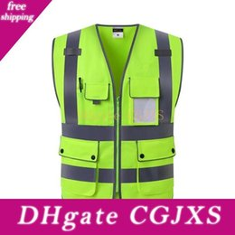 safety work clothing NZ - High Quality High Visibility Reflective Vest Working Clothes Motorcycle Cycling Sports Outdoor Reflective Safety Clothing #039 T191029