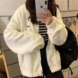 Wholesale boys zipped hoodies for sale – custom Winter Zip up Hoodie Casual Oversized Hoodies Women Loose Velvet Sweatshirt Ladies Tops Sudaderas Mujer