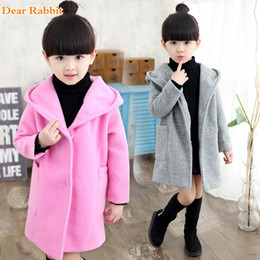 Wholesale red trench dress resale online - Girls clothes Trench Coats Jackets For Clothing Tops Kids children s Windbreakers Spring jacket Autumn Outerwear wool dress coat