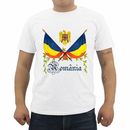 Wholesale romania for sale – custom New Cool Men s T Shirt Romania Coat Of Arms Print T Shirt Men s Short Sleeve Cotton O Neck Shirt Casual Tees Tops Streetwear