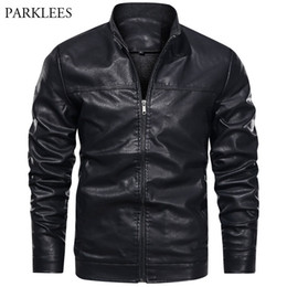 Wholesale mens yellow leather jacket for sale - Group buy Black Warm Men Leather Jackets Casual Motorcycle Bike Outwear Mens Thicken Jacket Coats Winter Chaqueta Hombre Veste Hommes XL