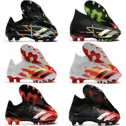 Discount football boots increase height Soccer Cleats Mens Messi Predator Mutator 20.1 20+ Low FG Soccer Shoes Core Black White Active Red Football Boots botas de futbol