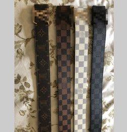 Ingrosso Fasce del Mens del progettista della cinghia trasporto libero della scatola di Louis Vuitton vera pelle colore nero del progettista della pelle bovina cinghia per le lusso del Mens womens