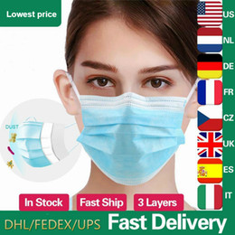 filter dust mask Canada - mask colour Blue 3-Layer Filter Disposable Face Masks Non-woven Mouth Masks PM2.5 Anti Pollution Anti-Dust Unisex Protective Safety