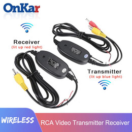 wireless backup rear view camera 2020 - ONKAR 2.4 GHZ Wireless RCA Cable Car Backup Cmaera Receiver Transmitter Kit for Car Rear View Camera Monitor MP5 discoun
