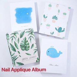 Discount sticker books 100 Slots Nail Sticker Water Decal Collecting Storage Holder Nail Art Display Showing Book Container Tools