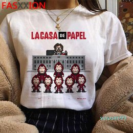 cool t shirt graphics 2020 - Hot Sale Money Heist Cool Tshirt Men La Casa De Papel Harajuku T-shirt House of Paper Graphic Tshirt Bella Ciao Hip Hop
