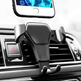 gravity cell phone holder Australia - Gravity in Car Air Vent Clip Mount No Magnetic Mobile Phone Holder Cell Stand Support For iPhone X 8