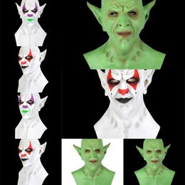 saw face mask NZ - vSE4x Lace emulsion imp Clown Mask Halloween Face Masks For Masquerade Party hood Mask Saw Hollow Masque Queen Female Fashion