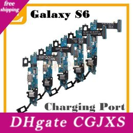 s6 dock connector Australia - Oem For Samsung Galaxy S6 G9200 G920f G920v Vs G920p G920a G920t Charger Charging Port Dock Connector Micro Usb Port Sensor Flex Cable