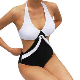 monikini swimwear NZ - New Design Women's One Piece Swimsuit Swimwear 2020 Sexy Halter Backless Push Up Padded Bathing Suit Monikini Trikini Bodysuit Y200824