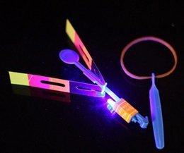 helicopter slingshot toys Australia - Novelty Children Toys Amazing LED Flying Arrow Helicopter For Sports Funny Slingshot Birthday Party Supplies Kids Gift Children Toys msPS#