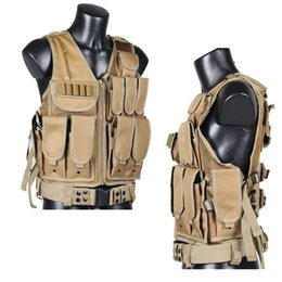 Discount molle plate carriers Mens Tactical Vest 600D Oxford Swat Vest Field Battle Molle Combat Assault Plate Carrier Hunting
