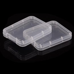 fedex boxes free NZ - Easy Container Box Dhl fedex Card Case Protection Plastic Shatter Memory Card Storage Free Transparent Tool To Container Boxes Cf HIfDy