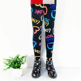 bohemian style boots Australia - Sweet children's print leggings girls winter plus velvet thickening children's trousers flowers slim pencil pants fashion girls