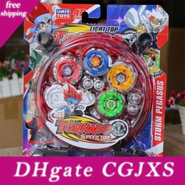 Discount beyblade battles toys 4d Tornado Speed Top Beyblade Toy Storm Pegasus Alloy Gyro Set Best Funny Toys For Boys Christmas Present