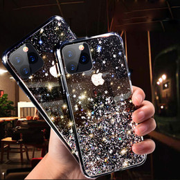 Wholesale silicon apple phone case for sale - Group buy Luxury Bling Glitter Phone Case For iPhone Pro X XS Max XR Soft Silicon Cover For iPhone S Plus Transparent Cases Capa