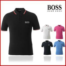 Wholesale high quality cotton polo shirts resale online – High quality Famous brand polo shirt men cotton Male Embroidery logo mens camisa masculina Pols shirt zz8 boss