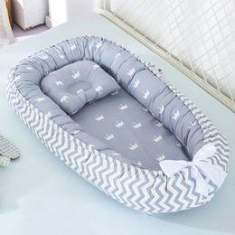 88 * 53 cm Bebek Yuva Yatak Yastık Ile Taşınabilir Beşik Seyahat Yatak Bebek Yürüyor Pamuk Beşiği Yenidoğan Bebek Yatağı Bases Batonu Için LJ200818