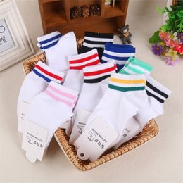 cotton mouth candy NZ - Two-bar women's summer invisible shallow mouth candy color cotton boat socks cotton boat Socks