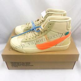 Toptan satış Off-White x Nike Blazer Mid Yeni Orta 2.0 Beyaz Sneakers Spooky Grim Reepers Tüm cadılar gecesi Siyah Kaykay Ayakkabı Kadınlar Blazer Spor Eğitmenler Kapalı Erkek Ayakkabı TP05