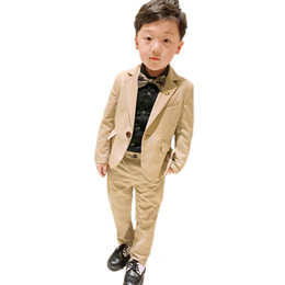 tuxedos for kids Australia - Flower Boys Suits for Wedding School Kids Prom Party Formal Blazer Pants 2PCS Clothing Set Children Tuxedo Performance Costume