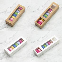 Toptan satış Macaron Kutusu Kek Kutuları Ev Malzemeleri Kağıt Çikolata Kutuları Bisküvi Muffin Kutusu Bakeware Ambalaj Tatil Hediye Kutusu