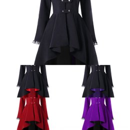 Wholesale women tuxedo slim for sale - Group buy 2020 long irregular hem dovetail suit multi color multi size for women long irregular hem dovetail tuxedo Windbreaker tuxedo suit multi