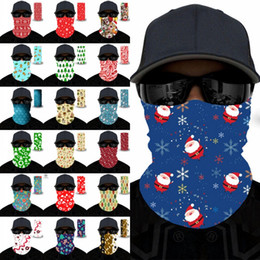 Discount bandana style face mask 20 Styles Christmas Outdoor Seamless Magic Scarf Variety Warm Halloween Cosplay Bicycle Cs Ski Headwear Half Face Bandan