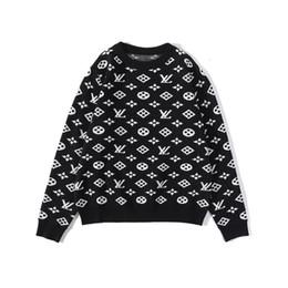 Wholesale black cardigan sweaters for women resale online - Fashion Black sweaters for men fashion long sleeve Crocodile embroidery couple sweaters autumn loose pullover sweaters for women free ship