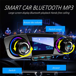 Trasmettitore LCD Kit Player Auto audio MP3 senza fili Handsfree di Bluetooth FM Aux modulatore Smart Charge Dual USB Car Charger gagets in Offerta
