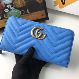 Discount denim canvas coin purse New Arrival Womens Wallet Purses Handbag Design Luxury Womens Clutch Bag Leather Long Wallet Money Coin Pocket Card Hold