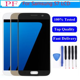 s7 touch screen UK - Original SUPER AMOLED LCD For Samsung Galaxy S7 LCD Screen Display Digitizer Display Assemly LCD Touch Screen Replacement Repair Part